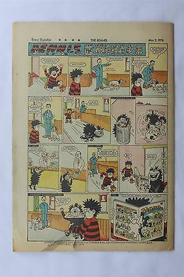 The Beano 1450 May 2nd 1970 Vintage UK Comic Dennis The Menace Biffo The Bear
