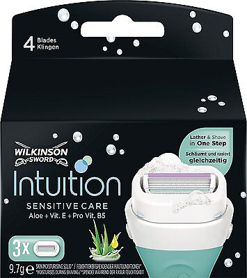 Wilkinson Sword INTUITION Naturals SENSITIVE care Razor Blades - Pack of 3