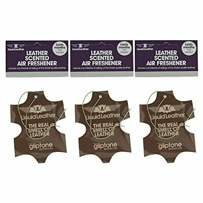 3 Pack Of Gliptone Liquid Leather Car Van Auto Air Fresheners Leather Scented