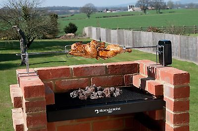 Brick BBQ spit roast rotisserie with free storage bag & rotisserie motor