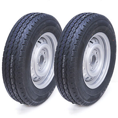 2 - 165 R13 5 stud 112mm PCD Trailer wheel and tyre - Compass CT 7000 Tire 710kg