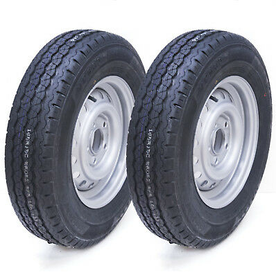 2 - 165R13C 5 stud 112mm PCD trailer wheel and tyre Wanda WR082 Tire 670kg