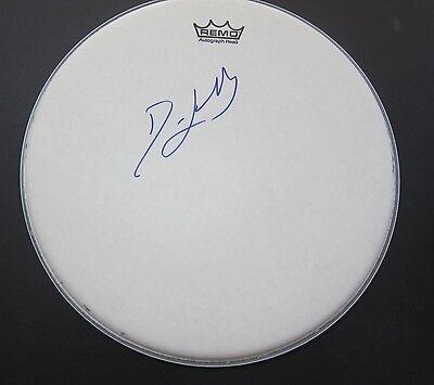 Signed Dave Lombardo Slayer drumhead drum head with photo proof