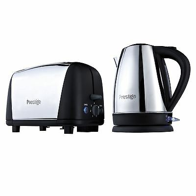 Prestige Stainless Steel 1.7L Cordless Kettle 2 Slice Toaster Breakfast Set New