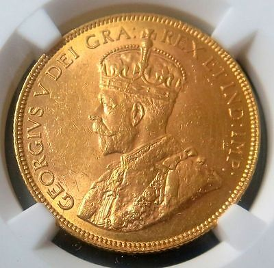 1913 Gold Canada $10 Ngc Mint State 62