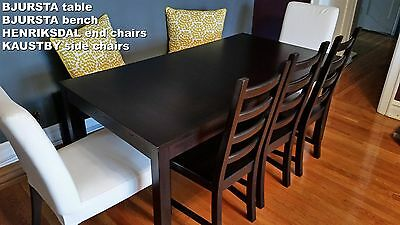 Amazing Ikea Dining Table Bench 2 Chairs 300 00 Picclick Ibusinesslaw Wood Chair Design Ideas Ibusinesslaworg