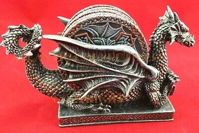 Medieval Dragon Coaster Set With Five Round Coasters Figural Home Decor Statue
