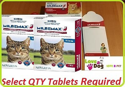 Milbemax Cat Worming Tablets For Small/Medium/Large Cats 2 - 8kg