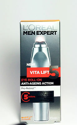L'OREAL Men Expert Vita Lift 5 Anti-Aging Eye Roll On 10mL