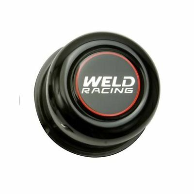 "Weld Center Cap 3.16"" Dia Push-Through Dome Black Stainless P605-5073B Set of 4"