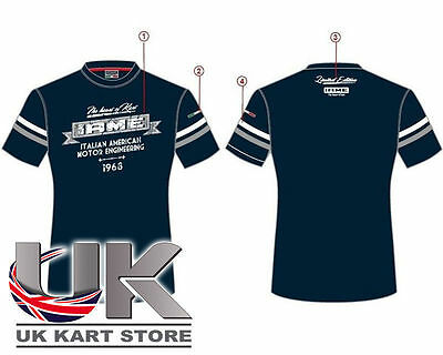 Iame Blue / Grey Racing Vintage T-Shirt All Sizes UK KART STORE