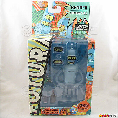 Futurama Bender 2008 series 3 action figure with build-a-bot robot devil part