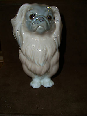 "Lladro Porcelain Pekingese Dog 6"" Tall"