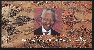"Nelson Mandela 2001 ""many Faces"" Booklet 10 Stamps+2 Cards"