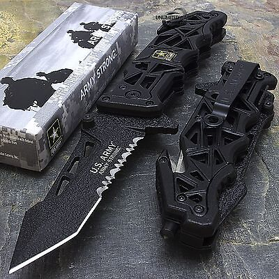 "9"" US ARMY ""LIBERATOR"" LICENSED TACTICAL SPRING ASSISTED FOLDING KNIFE Blade"