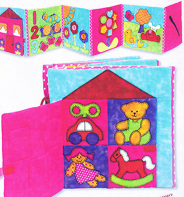 PATTERN - Buggy Garden Quiet Book - applique & pieced PATTERN - Kids Quilts