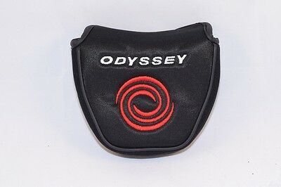 NEW Odyssey 2 Ball/#7 Mallet putter head cover headcover black fabric center