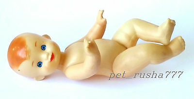 1970s USSR Russian Soviet Plastic Doll SMALL CHILD BOY Factory KRUGOZOR