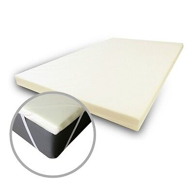 Double Orthopaedic Memory Foam Mattress Topper - Includes Free Secure Cover