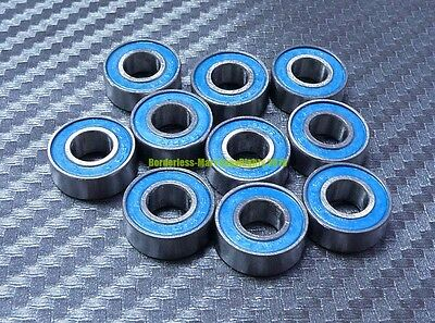 [10 Pcs] MR115-2RS (5x11x4 mm) Rubber Double Sealed Ball Bearing MR115RS (Blue)