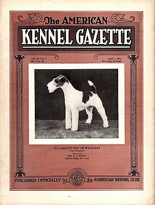 Vintage American Kennel Gazette April 1932 Fox Terrier Cover