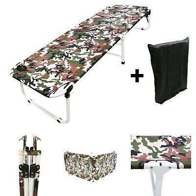 """24.5"""" W Portable Military Cots Fold Up Bed Hiking Fishing Camping+Free Bag-Army"""