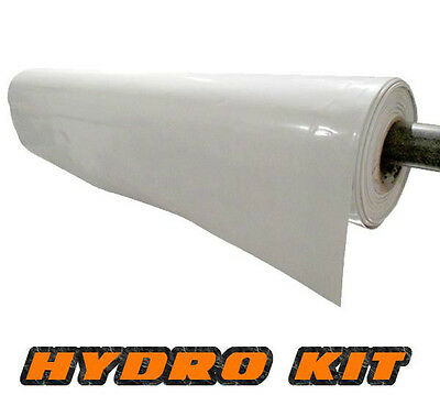 Heavy Duty White Polythene Plastic Sheeting 3M Wide DPM Roll reflective