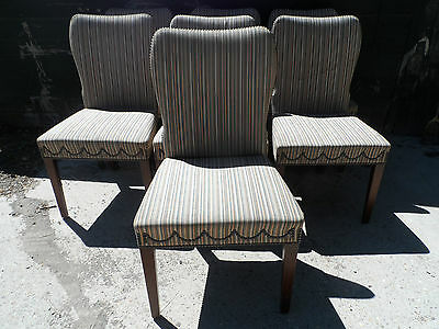 Stunning Stylish Set Of 7 William L Maclean Brighton Dining Chairs Padded