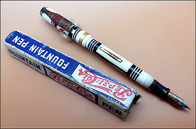 Vintage Pepsi-Cola Fountain Pen in Original Box, USA (Ref.#3526)