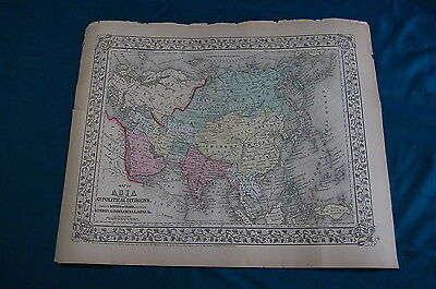 Map of Asia Political Divisions 1867 Augustus Mitchell