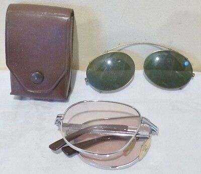 Vintage Folding And Clip On Sunglasses-Calvin Klein