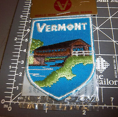 Vermont embroidered patch - Unused in package - by Voyager Emblems 1970s