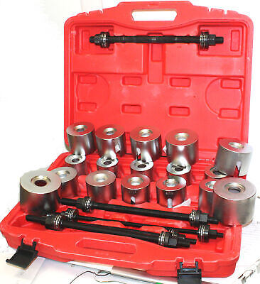 Universal 27PC Press & Pull Sleeve Kit Bush Bearing Removal Insertion with Case