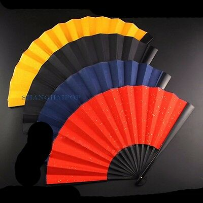 1 X Xuan Paper Folding Hand Fan for Chinese Painting Calligraphy Dance 33cm New