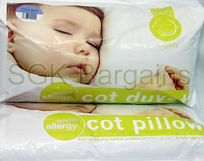 New Nursery Baby Junior Toddler Anti Allergy Cot Duvet  & Pillow  9 TOG Quilt