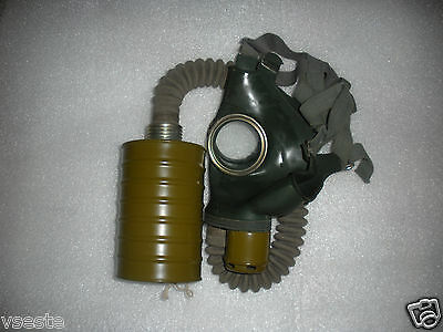 USSR soviet russian rubber gas mask GP-4 with hose . Full set.Lot  of 1pcs.
