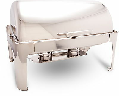 PrestoWare PWR-1RE Full-size Roll-Top Chafing Dish with Cover Holder