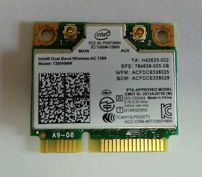 Intel 7260AC 802.11 ac Bluetooth 4.0 WiFi for Notebook DUAL BAND 867Mbps 7260HMW