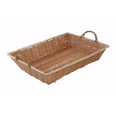 Winco PWBN-16B, 16x11x3-Inch Oblong Poly Woven Basket with Handles