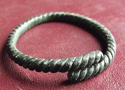 Ancient Latvian VIKING Artifact   BRONZE BRACELET or HAIR RING  12980
