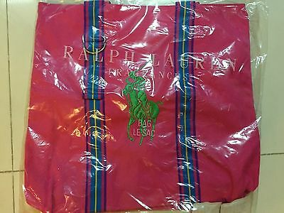 Polo Ralph Lauren Big Pony Pink Tote Bag Canvas NEW GWP
