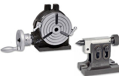 """Rotary table 6"""" H&V with Adjustable Tailstock"""