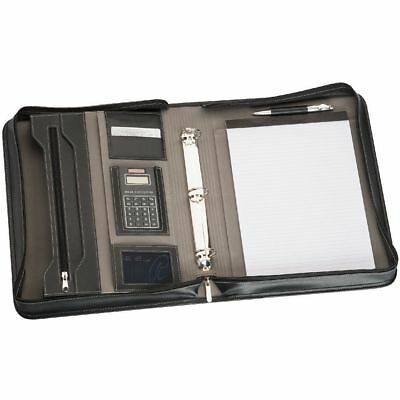 1 x New A4 Zippered Compendium with Binder|Calculator|Express Courier Included