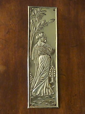 10 Finger Plates Door Brass Reclaimed Art Nouveau Push Fingerplate