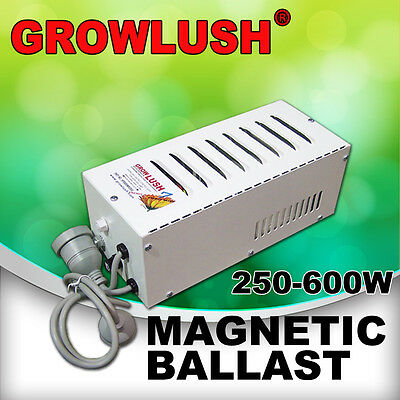 Growlush Magnetic Ballast Hydroponics Grow Light 250/400/600W HPS/MH Plant Lamps