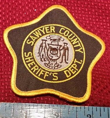 Vintage Sawyer County Sheriff's Department shoulder patch Wisconsin WI Police