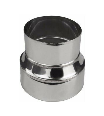 Chimney Flue Liner Metal Reducer Ducting Stainless Steel Pipe Connector Adapter