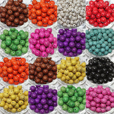 Wholesale 4/6/8/10mm Turquoise Beads Gemstone Round Loose Spacer Jewelry Making