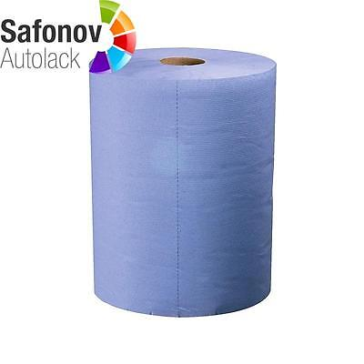 CARSYSTEM Paper cleaning cloth Roll 2-layer blue 500 Ripped off 36x36cm 138.483