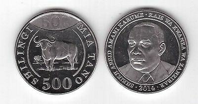 Tanzania - New Issue 500 Shillings Unc Coin 2014 Year Buffalo (Mint Condition)